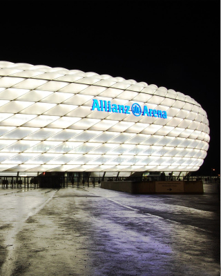 Allianz Arena is stadium in Munich - Obrázkek zdarma pro iPhone 6