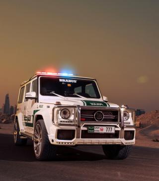 Mercedes Benz G Brabus Police - Obrázkek zdarma pro Nokia Asha 308