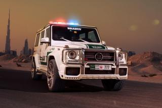 Mercedes Benz G Brabus Police - Obrázkek zdarma pro 1280x720