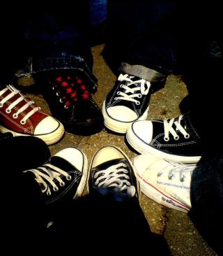 Emo Allstar Shoes - Obrázkek zdarma pro 480x800