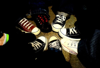 Emo Allstar Shoes Wallpaper for Android, iPhone and iPad