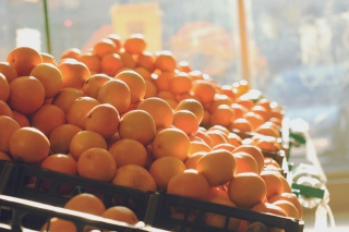 Fresh Oranges Background for Android, iPhone and iPad