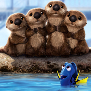 Finding Dory 3D Film with Beavers - Obrázkek zdarma pro 208x208