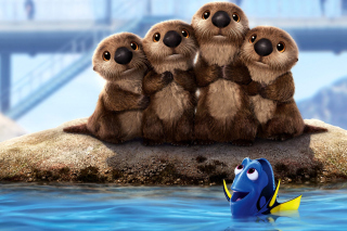 Free Finding Dory 3D Film with Beavers Picture for Android, iPhone and iPad