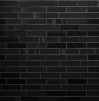 Black Brick Wall - Obrázkek zdarma pro 320x320