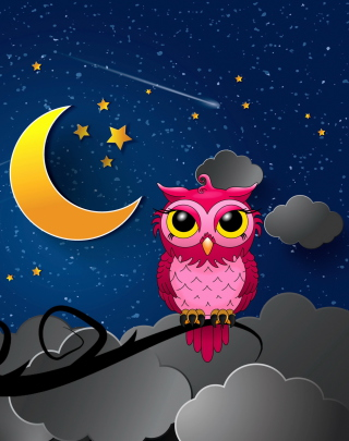 Silent Owl Night - Obrázkek zdarma pro Nokia Asha 303