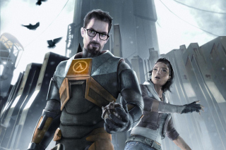 Half life with Freeman, Alex in City 17 Wallpaper for Android, iPhone and iPad