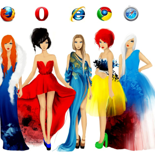 Browsers Girls - Obrázkek zdarma pro 208x208