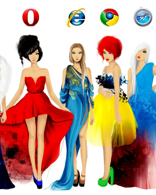 Browsers Girls - Obrázkek zdarma pro 320x480
