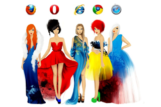 Browsers Girls - Obrázkek zdarma pro Android 480x800