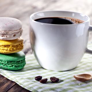 Coffee and macaroon - Obrázkek zdarma pro 128x128