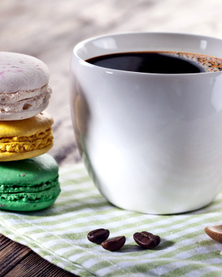Coffee and macaroon - Obrázkek zdarma pro 640x960