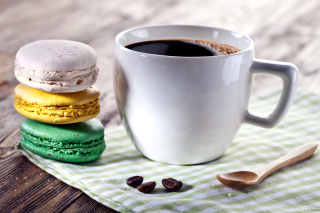Coffee and macaroon - Obrázkek zdarma pro Widescreen Desktop PC 1920x1080 Full HD