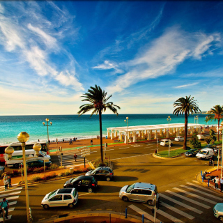 Nice, French Riviera Beach - Obrázkek zdarma pro 208x208