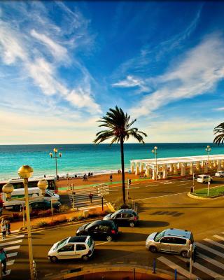 Nice, French Riviera Beach - Obrázkek zdarma pro Nokia Asha 305