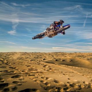 Motocross in Desert - Obrázkek zdarma pro 208x208