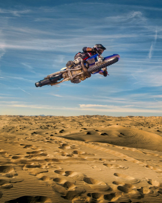 Motocross in Desert - Obrázkek zdarma pro Nokia 206 Asha