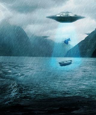 Alien Abduction - Obrázkek zdarma pro 128x160
