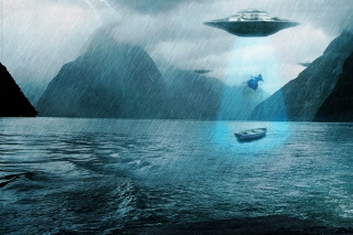 Alien Abduction - Obrázkek zdarma pro Motorola DROID