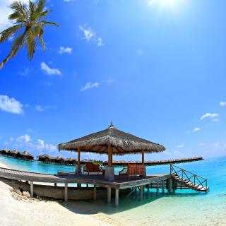 Luxury Bungalows in Maldives Resort - Obrázkek zdarma pro iPad Air
