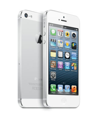 New White iPhone 5 - Obrázkek zdarma pro 1080x1920