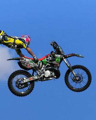 Motorcyclist Ride Jump - Obrázkek zdarma pro 360x400