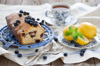 Blueberry Cake Background for Android, iPhone and iPad