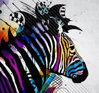 Colored Zebra - Obrázkek zdarma pro 2048x2048