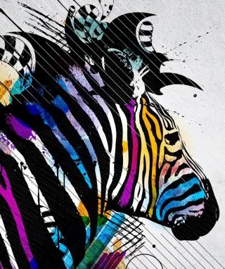 Colored Zebra - Obrázkek zdarma pro 480x640