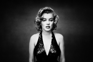 Marilyn Monroe Monochrome Background for Android, iPhone and iPad