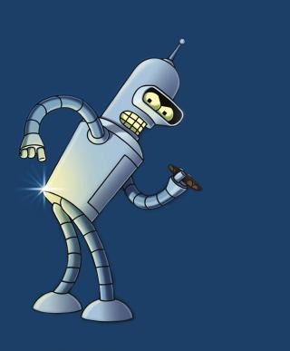 Bender Bending Rodriguez - Obrázkek zdarma pro Nokia Asha 300