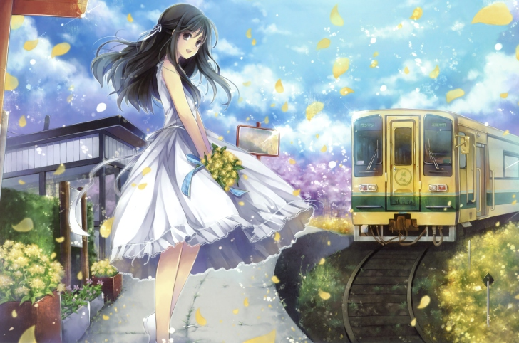 Romantic Ipad Wallpaper: Romantic Anime Girl Wallpaper For Android, IPhone And IPad