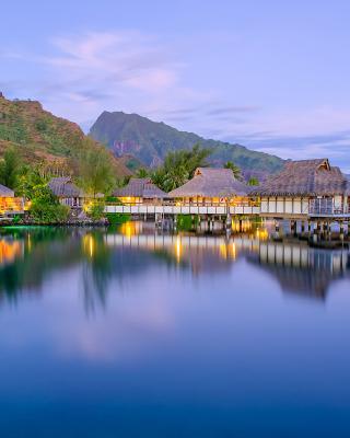 French Polynesia Beach Resort - Obrázkek zdarma pro 128x160