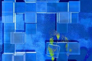 Blue Squares - Fondos de pantalla gratis para Nokia Asha 201