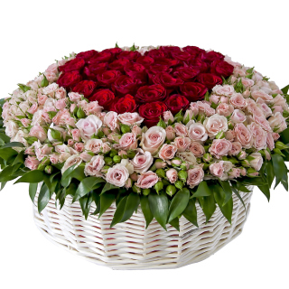 Basket of Roses from Florist - Obrázkek zdarma pro 208x208