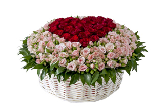 Basket of Roses from Florist - Obrázkek zdarma pro Widescreen Desktop PC 1920x1080 Full HD