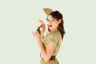 Girl With Grenade Picture for Android, iPhone and iPad