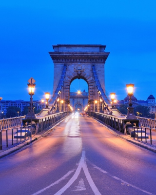 Budapest - Chain Bridge - Obrázkek zdarma pro Nokia 300 Asha