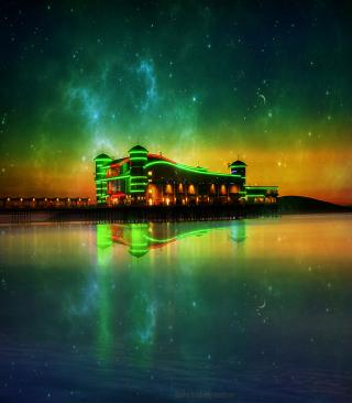 Green Sunset - Obrázkek zdarma pro iPhone 5S