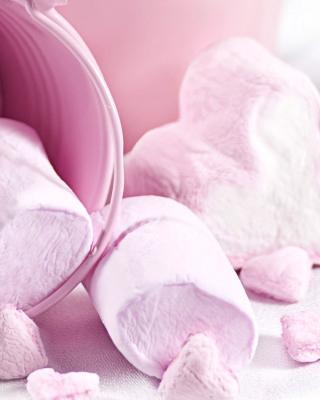 Free Pink Strawberry Marshmallows Picture for Nokia Asha 303
