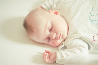 Cute Sleeping Baby Background for Android, iPhone and iPad