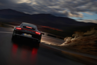 Porsche Carrera 4 Night Drive Background for Android, iPhone and iPad