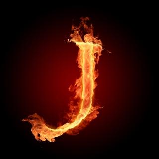 Fire Letter J - Obrázkek zdarma pro iPad mini