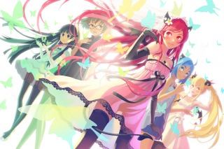 Anime Charm Girls - Obrázkek zdarma pro 320x240