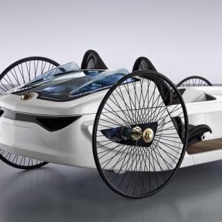 Mercedes Benz F Cell Roadster - Obrázkek zdarma pro iPad