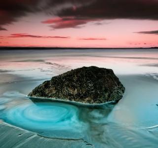 Long Exposure Beach - Obrázkek zdarma pro iPad