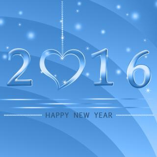 Happy New Year 2016 - Obrázkek zdarma pro iPad mini 2