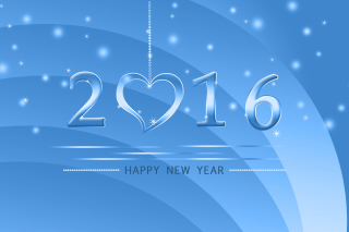 Happy New Year 2016 - Obrázkek zdarma pro Nokia X2-01