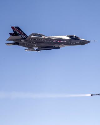 Lockheed Martin F 35 Lightning II - Obrázkek zdarma pro Nokia Asha 305