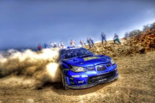 Rally Car Subaru Impreza - Obrázkek zdarma pro 1366x768